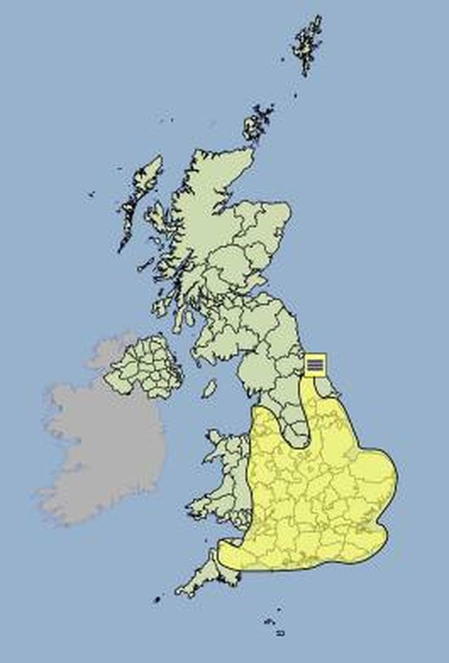 Yellow fog warning for Devon and rest of SW image
