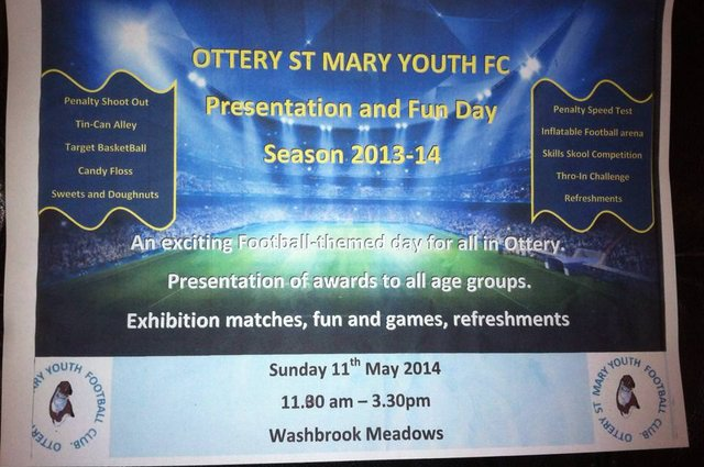 Presentation Day and Fun Day at Ottery FC - 11th May 2014 image