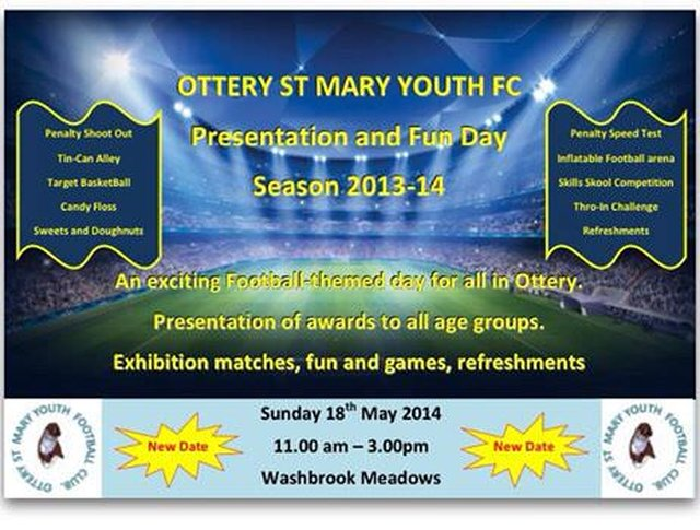 Presentation Day and Fun Day at Ottery FC - New date 18th May 2014 image
