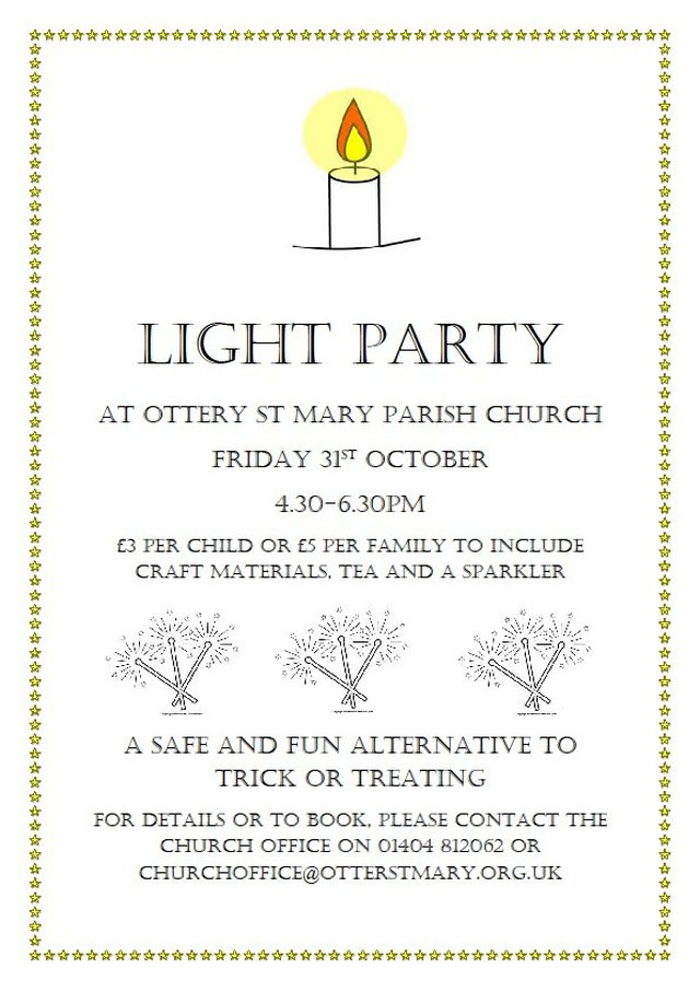 Light Party at Ottery St Mary Parish Church image