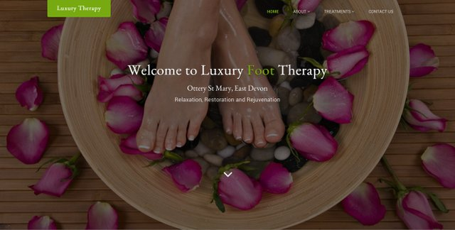 New website for local business - Luxury Foot Therapy image