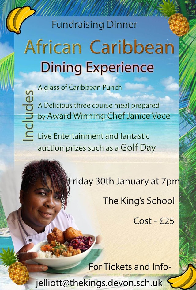 African Caribbean dining experience. image