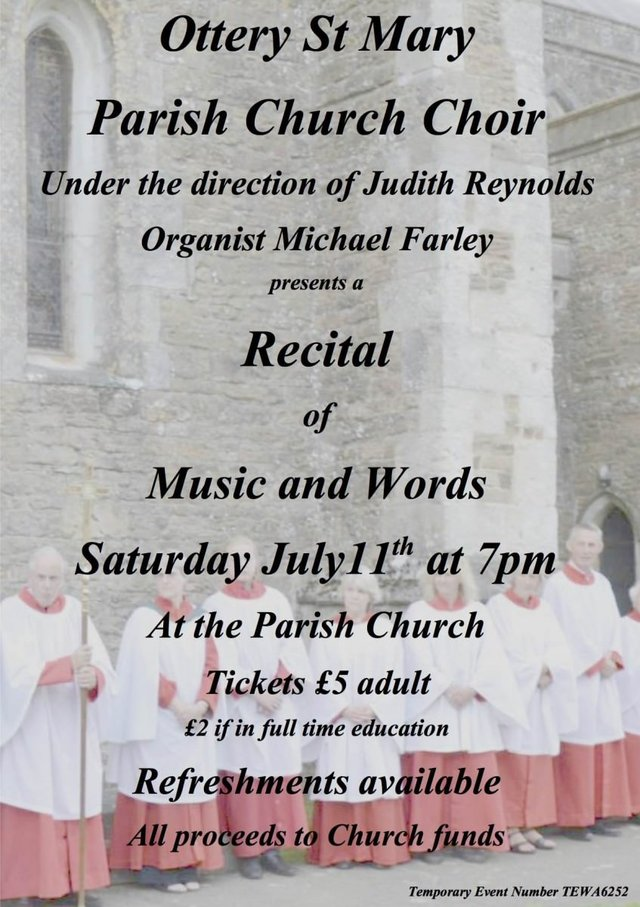 Join the Parish Church Choir for a Recital of Music and Words image