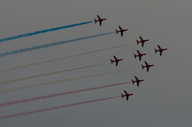 Red Arrow display - Sidmouth 21st August 2015 image