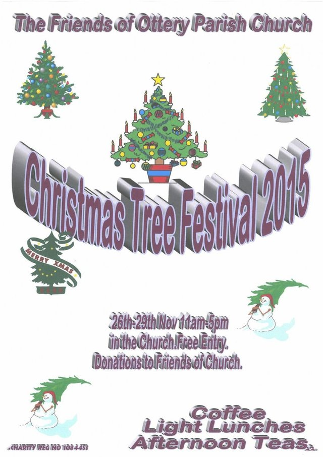Christmas tree festival 26-29th November (11am-5pm) image
