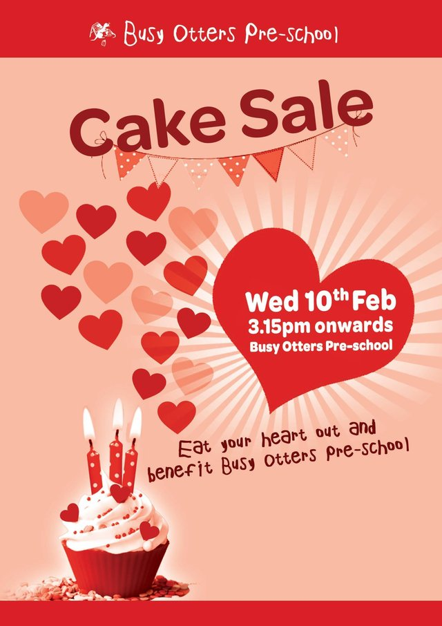 Valentine Cake Sale 10th Feb image