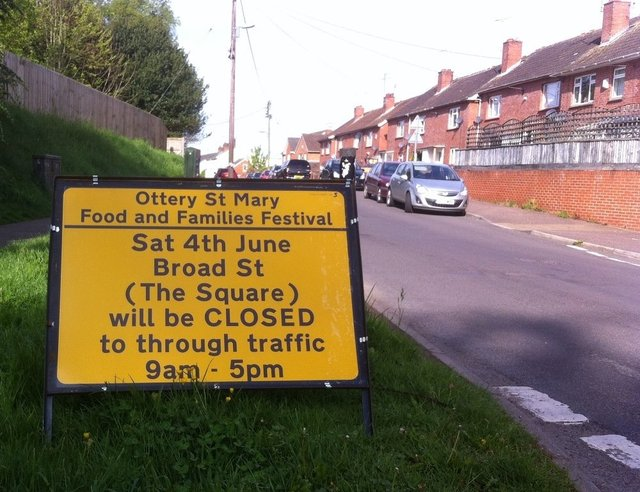 Reminder of road closure in Ottery today image