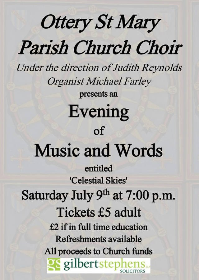 Choir Concert - Saturday 9th July - 7pm image