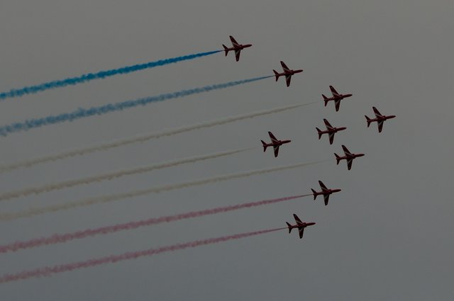 Red Arrow display - Sidmouth (Tonight) 26th August 2016 image