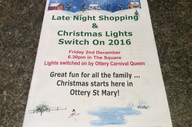 Christmas lights switch on 2016 and Late night shopping - Friday 2 December image