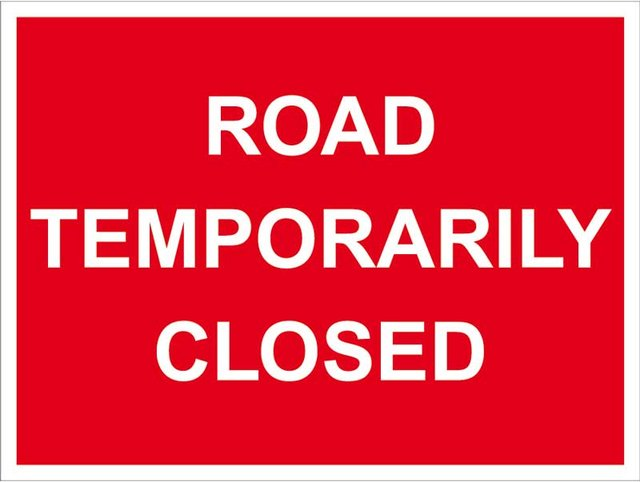 Reminder of weekend road closure in Exeter image