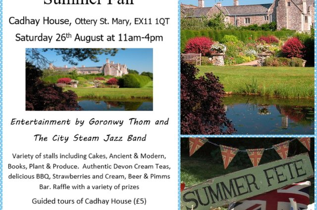 Cadhay Summer Fair - 26 August 2017 image