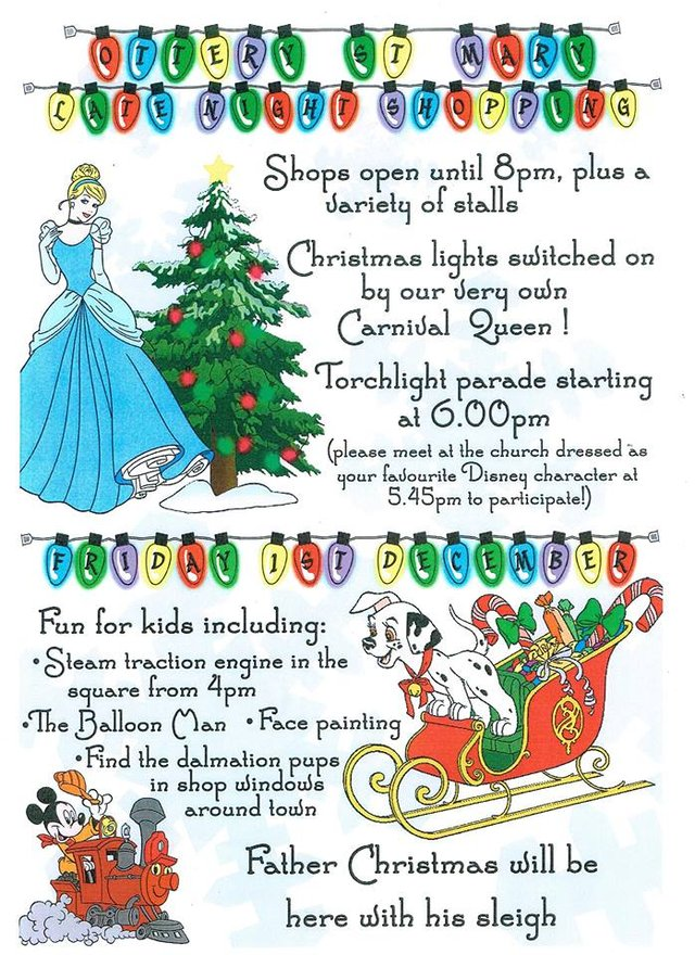 Ottery St Mary Christmas Lights switch on and Late night shopping image