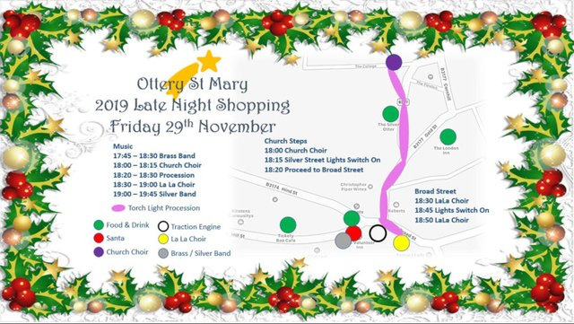 Ottery St Mary Christmas Lights switch on and Late night shopping 2019 image